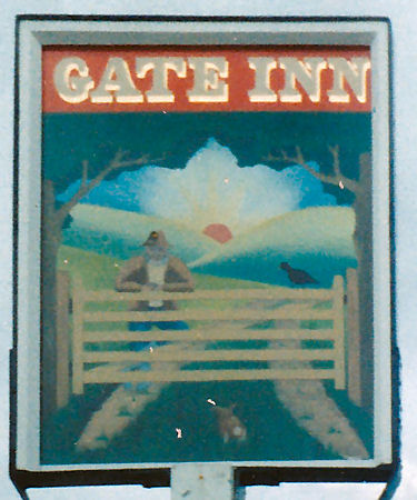 Gate Inn sign 1986