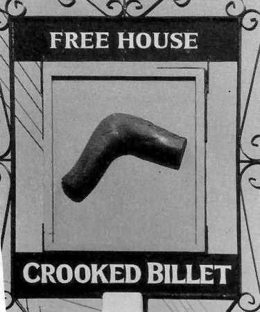 Crooked Billet sign 1987