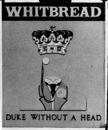 Duke without a Head sign 1987