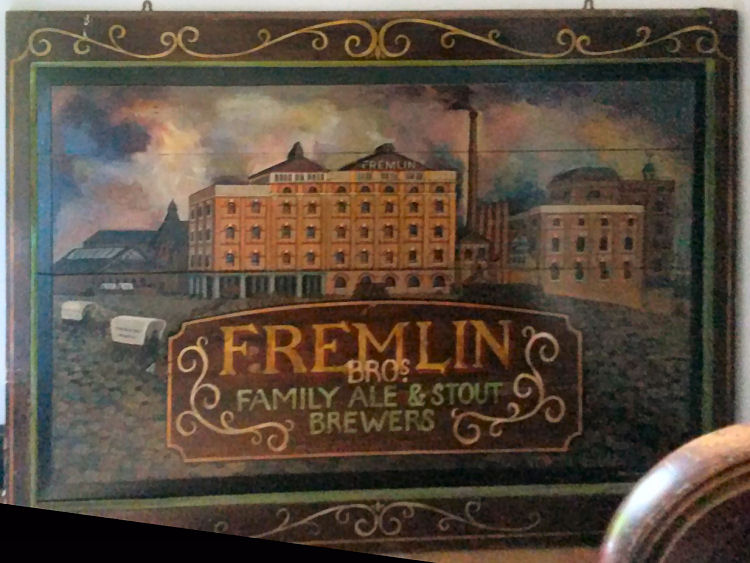 Fremlins picture in frame