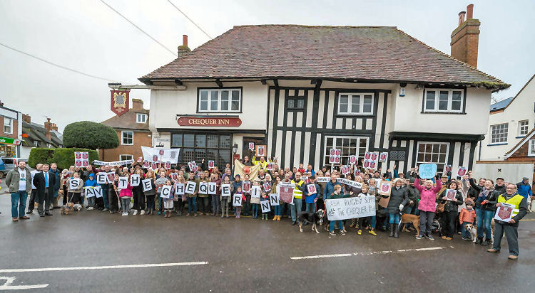 Chequer demo to save the pub 2016