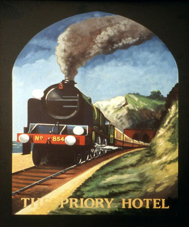 Priory Hotel sign 1995