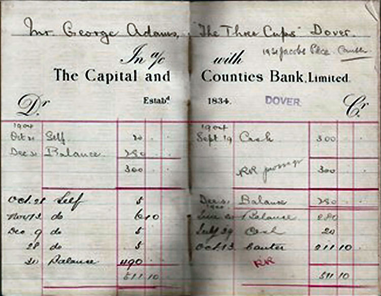 Three Cups paying in book 1904