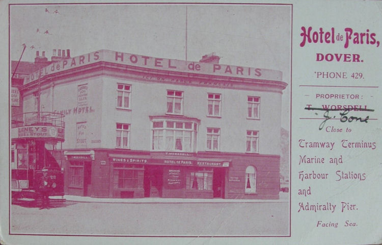Hotel de Paris card 1930s