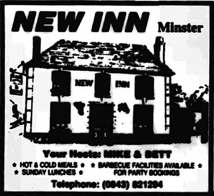 New Inn  advert 1986
