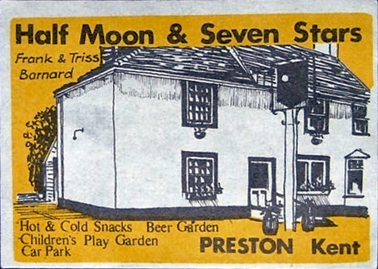 Half Moon and Seven Stars matchbox 1970