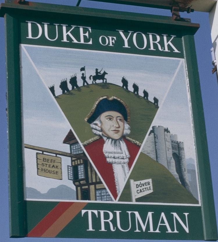 Duke of York sign 1974
