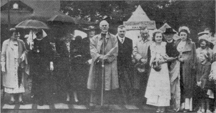 Mr A C Leney former Chairman of the Hospital opening the Dover Carnival 1938