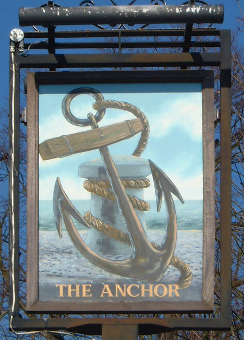 The Anchor sign at Wingham