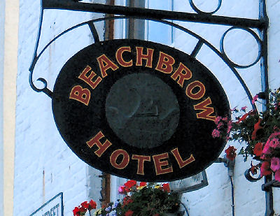 Beachbrow Hotel sign in Deal