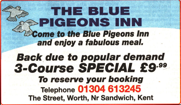Blue Pigeon advert