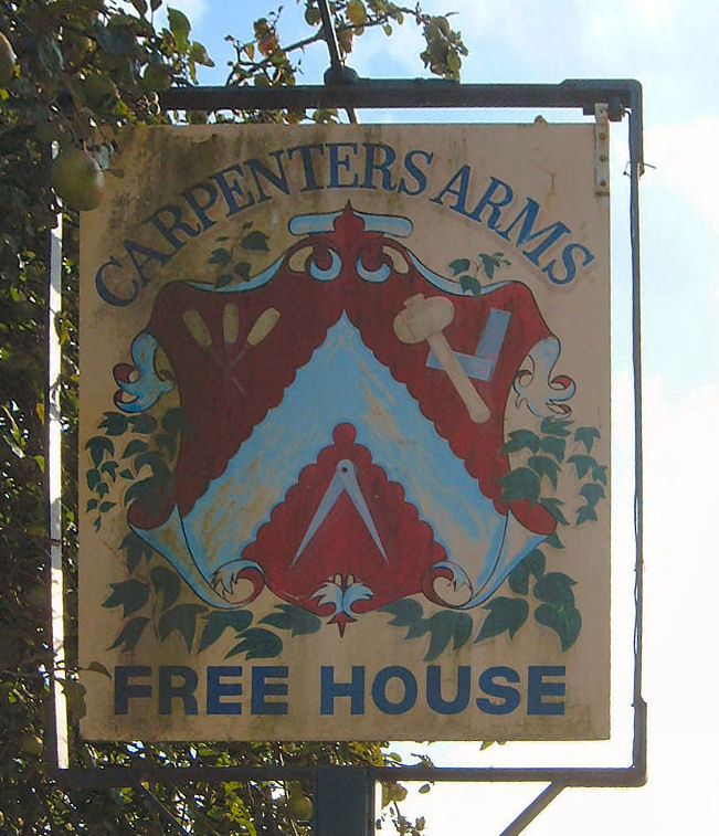 Carpenter's Arms sign 2007