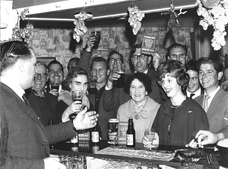 Castle Inn regulars 1963
