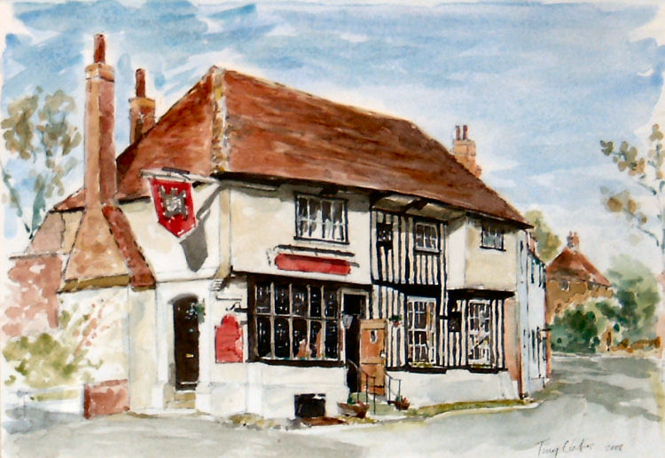 Chequers at Ash, painting