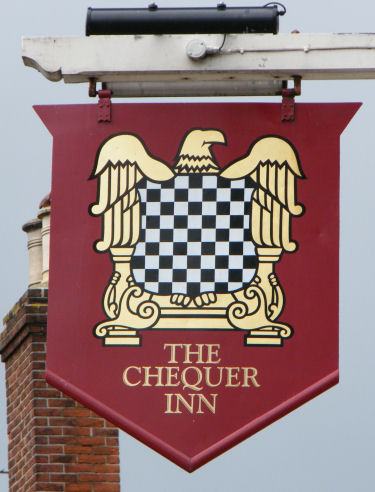 Chequers sign at Ash