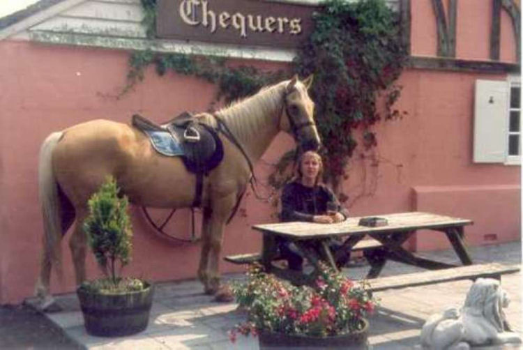 Chequers, me and Sundance