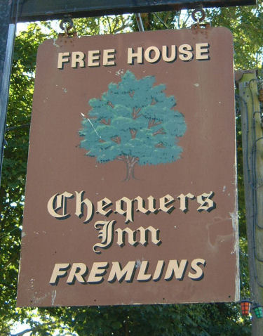 Chequers (Hougham) sign 1