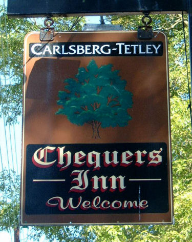 Chequers (Hougham) sign 2