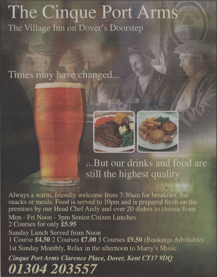 Cinque Port Arms advert 2011