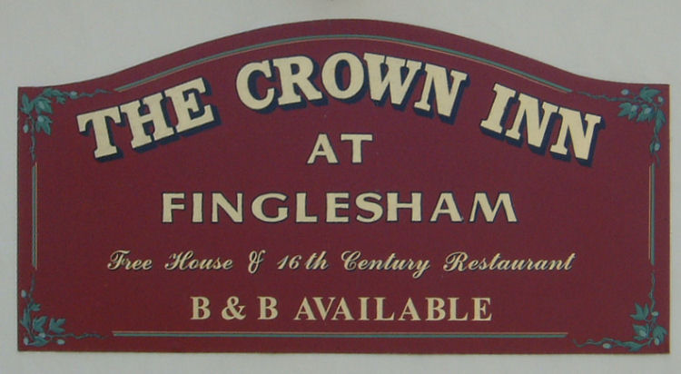 Crown at Finglesham sign