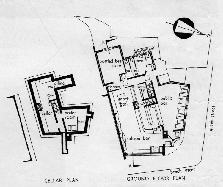 Floor Plans of the Dover tavern