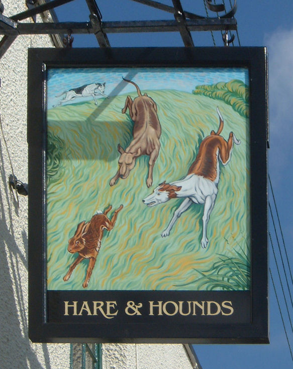 Hare and Hounds sign, Northbourne