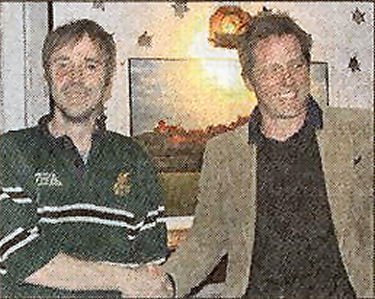 Paul McMullan and Hugh Grant