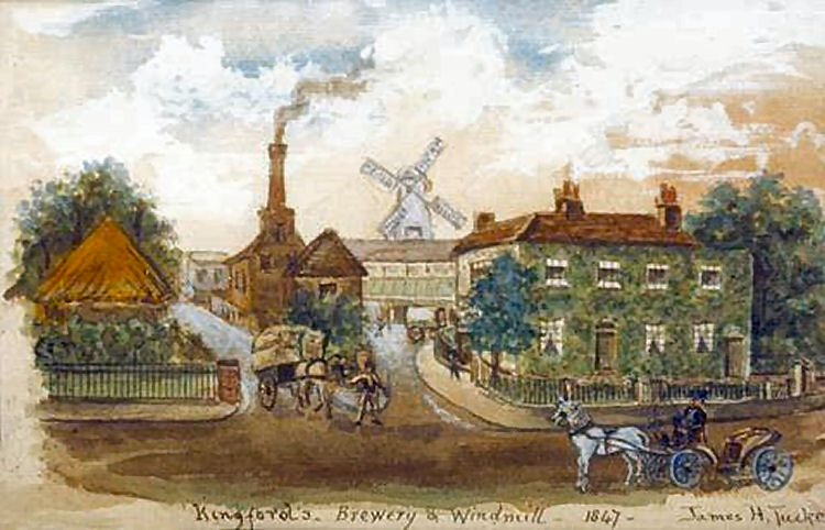 Kingsford Windmill Brewery by James H Tucker 1847