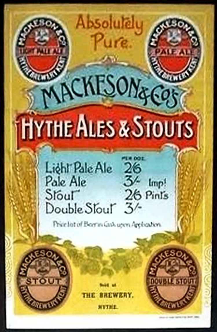 Mackeson price list