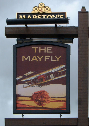Mayfly sign Sept 2009