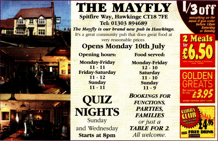 Mayfly advert 2006
