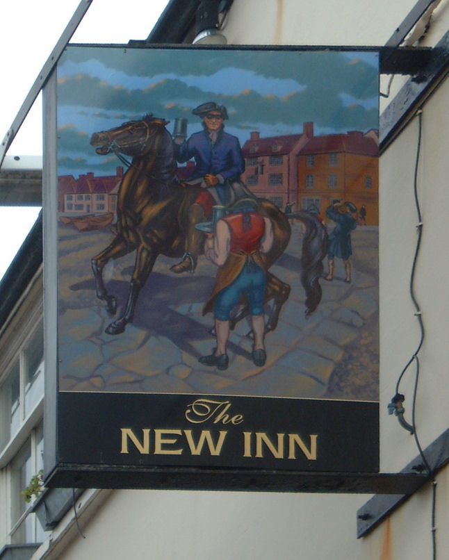 New Inn sign in Deal
