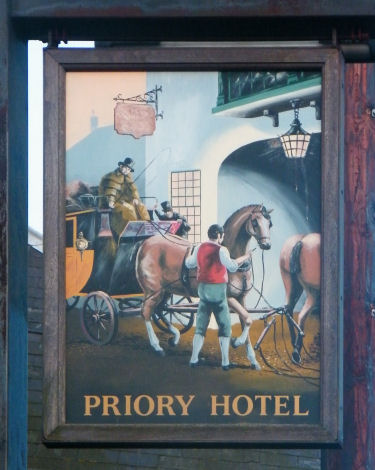 Priory Hotel sign 2011