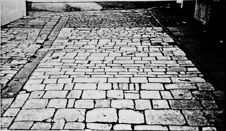 Pavement outside Providence Inn