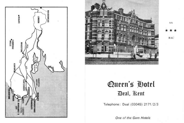 Queen's Hotel business card