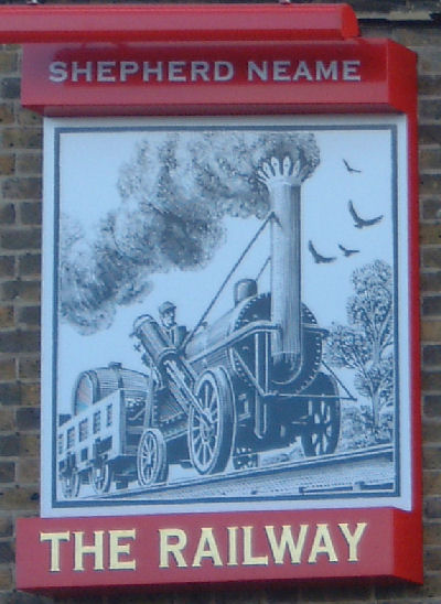 Railway Hotel Sign in Walmer