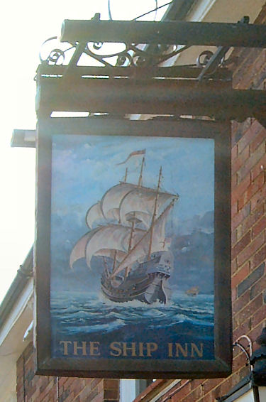 Ship Inn Sign, Folkestone 2009