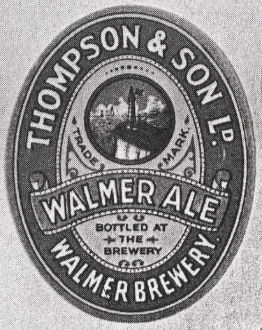 Thompson's Walmer Ale Label