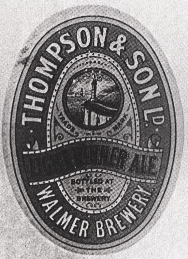 Thompson's Light Winner Ale Label
