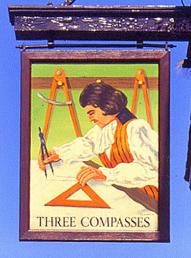 Three Compasses sign