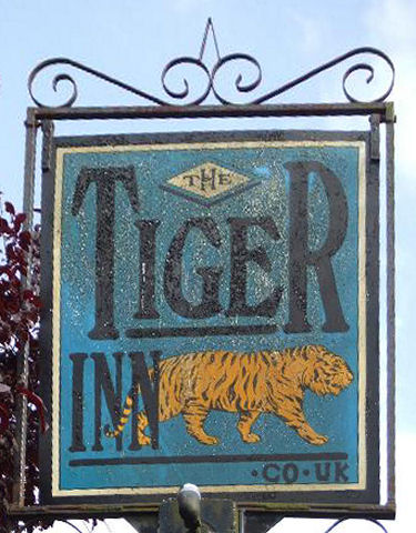 Tiger pub sign
