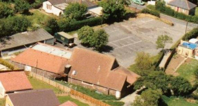 Whitfield Club 1980s arial shot