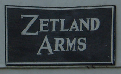 Zetland Arms Sign at Kingsdown
