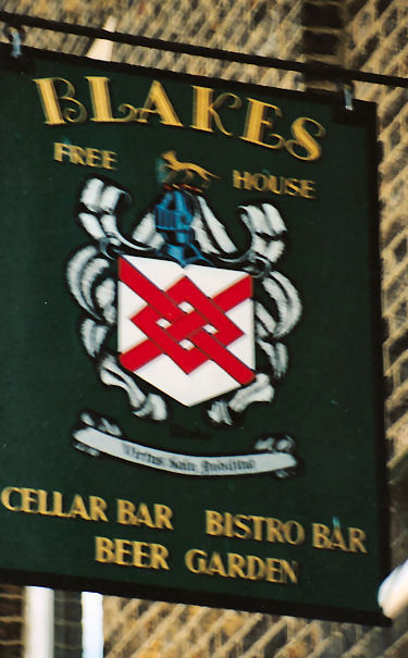 Blakes Wine Bar sign 1991