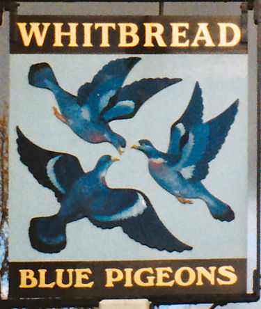 Blue Pigeon sign 1987