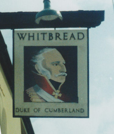 Duke of Cumberland sign 1986