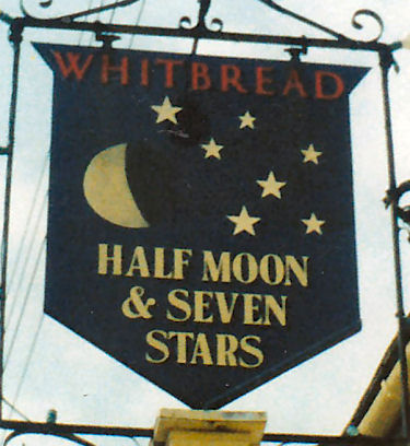 Half Moon and Seven Stars sign 1986