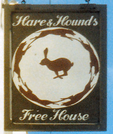 Hare and Hounds sign 1986