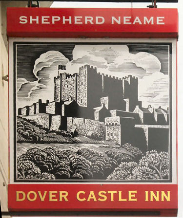 Dover Castle Inn sign 2013